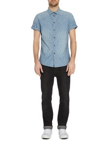 Label Lab Alamos Light Wash Denim Short Sleeve Shirt