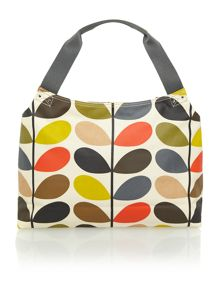Classic multi-coloured stem print shoulder bag