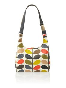 Classic multi-coloured stem print sling crossbody