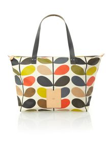 Orla Kiely Classic multi-coloured stem print tote bag