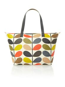 Classic multi-coloured stem print tote bag