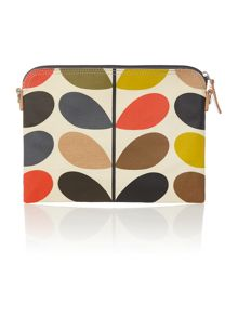 Orla Kiely Classic multi-coloured stem print travel pouch