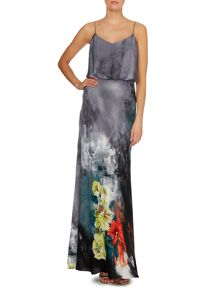 Adrianna Papell Floral print blouson gown
