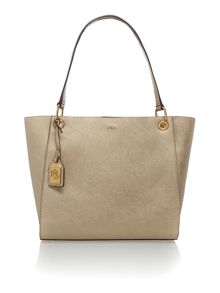 Gold medium aiden shopper tote bag