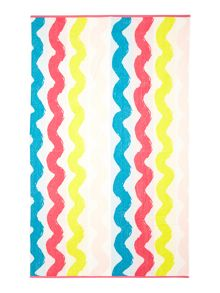 Wiggly stripe beach towel