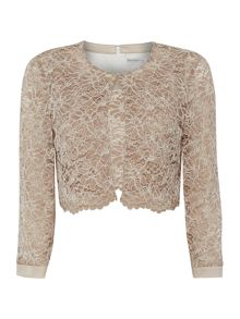 Crepe two tone lace bodice and jacket