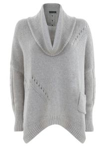 Grey Pointelle Knit