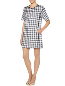 Marella Houndstooth print short sleeve dress