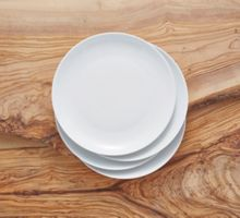 Linea Luna coupe set of 4 porcelain side plates