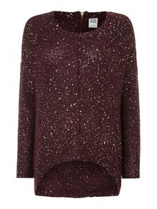 Sparkle sequin knit jumper