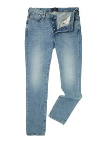 Slim fit light blue denim jeans