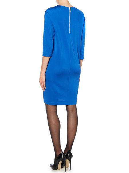 Marella Long sleeve pocket shift dress