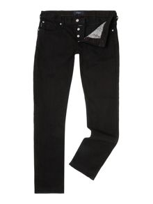 Tapered fit black jeans