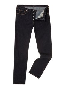 Tapered Leg Rinse Denim Jeans