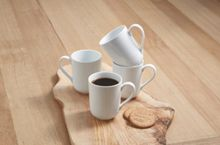 Linea Luna coupe set of 4 porcelain mugs