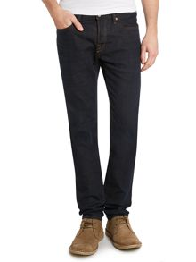 Slim leg black denim jeans