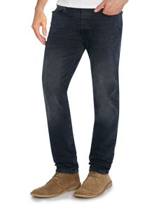 Slim fit medium blue jeans