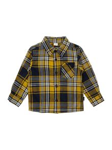 Boy`s long sleeved check shirt