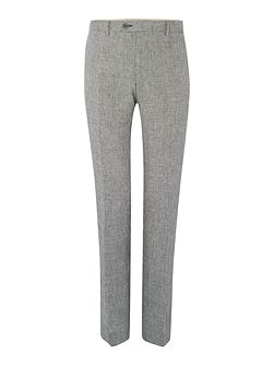 Folco Dogtooth Linen Flat Front Trousers