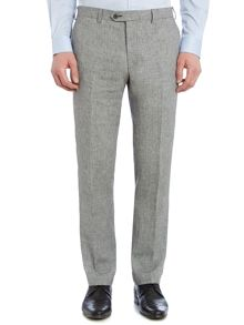 Corsivo Folco Dogtooth Linen Flat Front Trousers