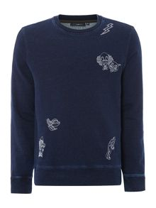 Paul Smith Jeans Embelem printed washed sweatshirt