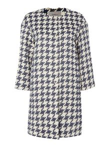 Picco long sleeved houndstooth check coat