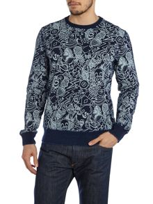 Paul Smith Jeans All over printed sweatshirt