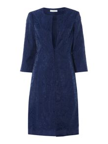 Embroidered organza duster coat