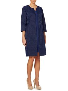 Shubette Embroidered organza duster coat