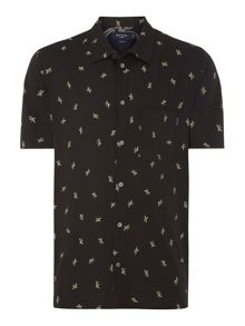 Shortsleeve Banana Print Shirt