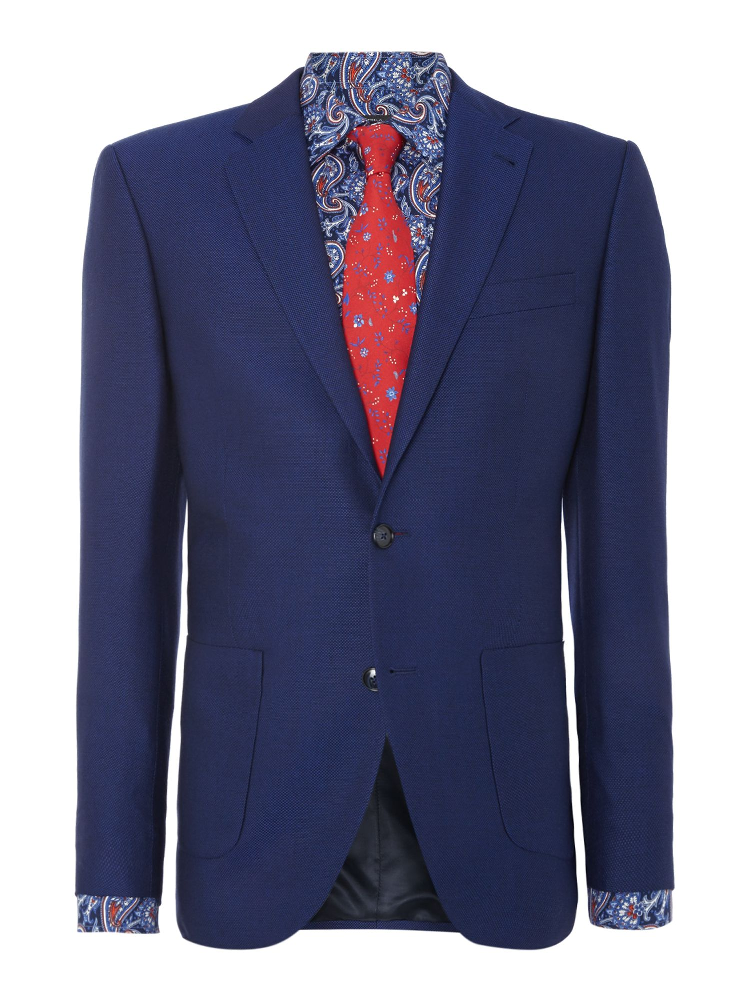 Men's New & Lingwood Spindle notch lapel Blazer, Blue