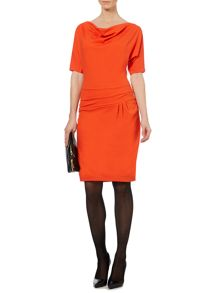 Paula Ponte Twist Side Drape Dress
