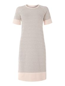 Marella Eburnea short sleeve arrow dress