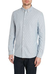 Lightning Button Down Oxford Shirt