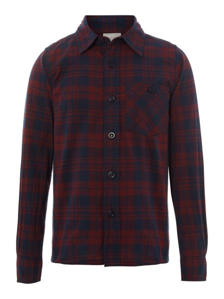 name it Boys long sleeved check shirt