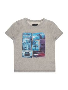 Boys block print t-shirt