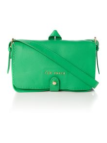 Green medium leather cross body bag