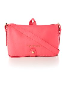 Pink medium leather cross body bag