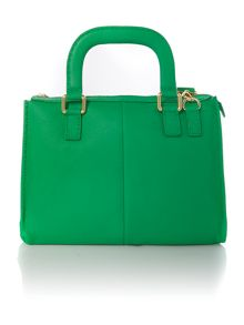 Green large cross body satchel bag
