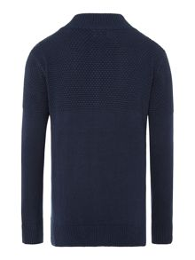 Boys zip thru knitted jumper
