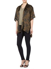 Printed tassel detail throw on jacket