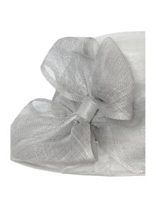 Organza Draped Hat with Bow