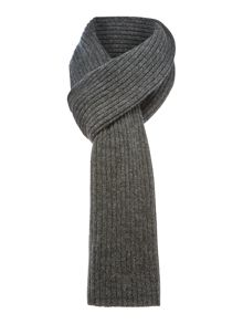 Ribbed lambswool scarf