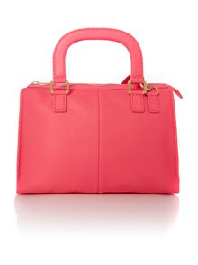 Pink large cross body satchel bag