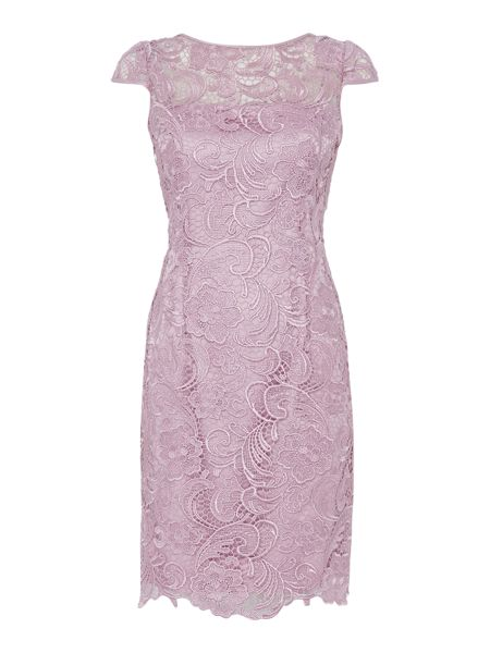 Adrianna Papell Cap sleeve guipure lace