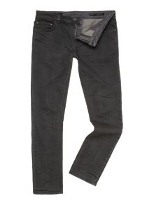 Ash slim leg mid wash denim jean