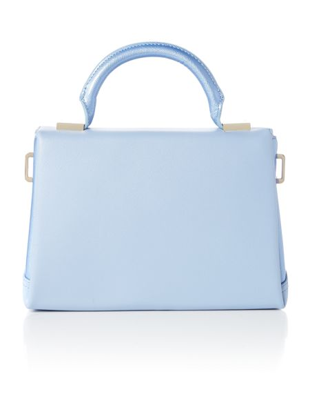 Ted Baker Pale blue cross hatch small tote bag