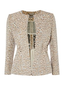 Marella Gino cropped leopard print jacket