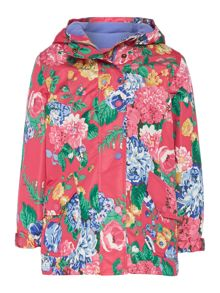 Girl`s floral padded raincoat