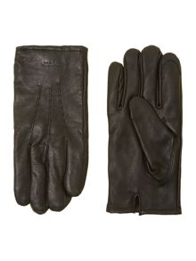 Touch screen leather glove